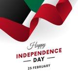 Kuwait Independence Day. 25 February. Waving flag. Vector. Kuwait Independence Day. 25 February. Waving flag. Vector illustration Royalty Free Stock Image