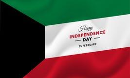 Kuwait Independence Day. 25 February. Waving flag. Vector. Kuwait Independence Day. 25 February. Waving flag. Vector illustration Royalty Free Stock Photography