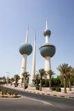 Kuwait-Kontrolltürme Stockfotografie