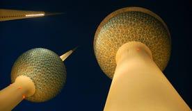 Kuwait-Kontrolltürme Lizenzfreie Stockfotos