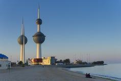 Kuwait-Kontrollturm im Frühjahr Lizenzfreie Stockfotografie
