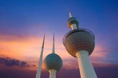 Kuwait-Kontrollturm im Frühjahr Lizenzfreie Stockfotos