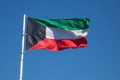 Kuwait krajowych bandery Fotografia Royalty Free