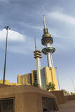Kuwait liberation tower. From a lower angle Royalty Free Stock Photos
