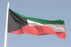 Kuwait-Markierungsfahne stockfotografie