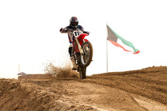 Kuwait motorcross competition Royalty Free Stock Photos