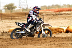 Kuwait motorcross rider Stock Image