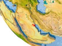 Kuwait no globo Imagem de Stock