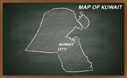 Kuwait no quadro-negro Fotografia de Stock Royalty Free