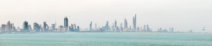 Kuwait`s coastline and skyline Stock Photo