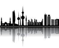 Kuwait skyline. Kuwait sklyline with tower mosk and other buildings Stock Photo