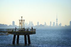 Kuwait: Skyline of the downtown Stock Photos