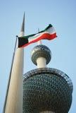 kuwait tawer royaltyfria bilder