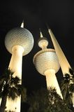 Kuwait towers. At night in kuwait city Royalty Free Stock Images