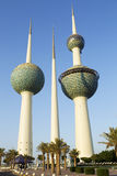 Kuwait towers. Kuwait water tanks that are national symbol Royalty Free Stock Image