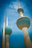 Kuwait Towers. City of Kuwait Royalty Free Stock Photo