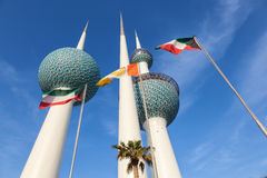 The Kuwait Towers. Kuwait Towers. The Towers are best known landmark of Kuwait. December 8, 2014 in Kuwait City, Middle East Stock Photo