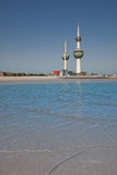 Kuwait Towers by the coast Royalty Free Stock Photo