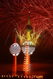 Kuwait Towers fireworks. In independence day Royalty Free Stock Photography
