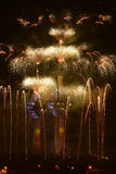 Kuwait Towers fireworks. In independence day Royalty Free Stock Photos