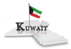 Kuwait-Tribut lizenzfreie abbildung