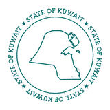 Kuwait vector map. Stock Photography