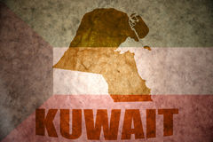 Kuwait vintage map Stock Images