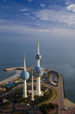Kuwait vom Himmel Stockfotos