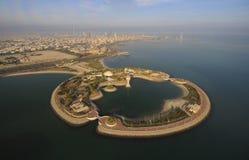 Kuwait vom Himmel Stockbild