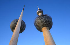 Kuwait Water Towers. Located near the waterfront in Kuwait City Royalty Free Stock Images