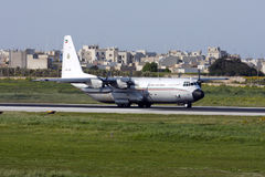 Kuwaiti C-130 Hercules Royalty Free Stock Photos
