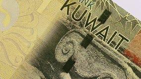 1 Kuwaiti dinar bank note. stock video