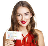 Kuwaiti dinar banknote in hand. Kuwaiti dinar is the national cu Royalty Free Stock Images