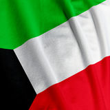 Kuwaiti Flag Closeup Stock Image