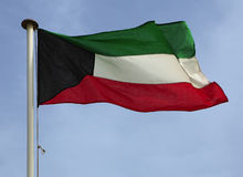 Kuwaiti national flag Stock Images
