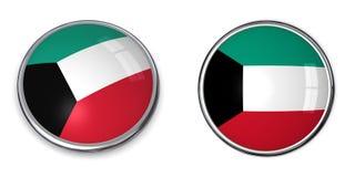 kuweit кнопки знамени Стоковое Фото
