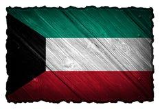 Kuwejt flaga Fotografia Royalty Free