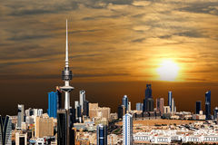 Kuwejt miasta krajobraz Zdjęcia Stock