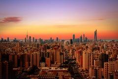 Kuwejt miasta linia horyzontu obraz royalty free