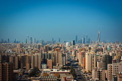 Kuwejt miasta linia horyzontu Fotografia Royalty Free