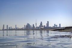Kuwejt miasta nieba scrapper Zdjęcie Royalty Free