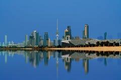 Kuwejt miasta widok podczas zmierzchu Obraz Royalty Free