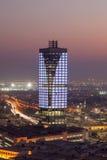 Kuwejt miasto przy nocą, Środkowy Wschód Zdjęcia Royalty Free