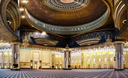Kuwejt Uroczysty Meczetowy wnętrze, miasto, Kuwejt Obraz Stock
