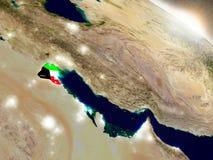 Kuwejt z flaga w powstającym słońcu Obraz Stock