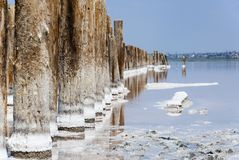 Kuyalnik salt beach Royalty Free Stock Images