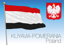 Kuyavia-Pomerania regional flag, Poland Stock Image