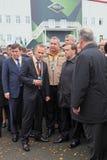 Kuyvashev, Badekha, Rogozin and Medvedev Royalty Free Stock Photos