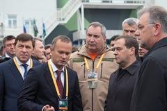 Kuyvashev, Badekha, Rogozin and Medvedev Royalty Free Stock Photography