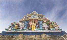 Kuzhanthai Velappar在村庄Poombarai的寺庙建筑学,  库存照片